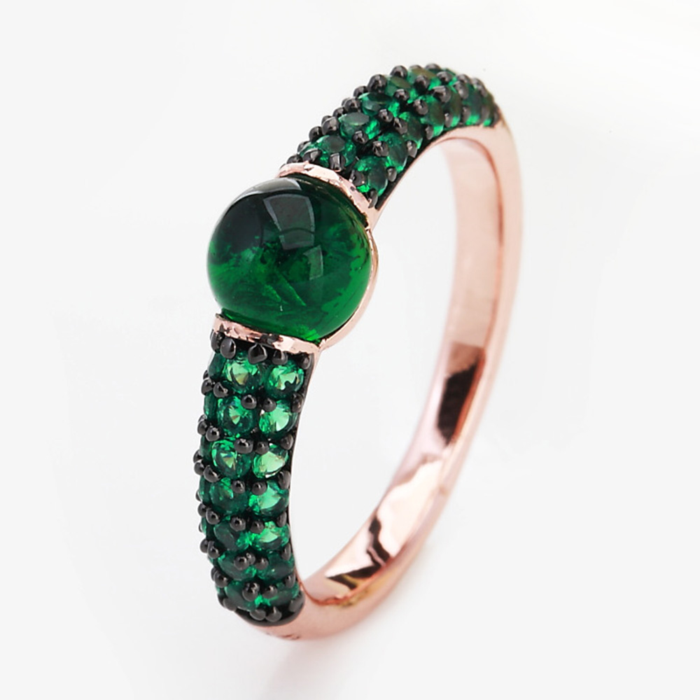 LLATO MAMANONMAMA RING IN ROSE GOLD WITH GREEN GARNET PURPLE MADEIRA QUARTZ