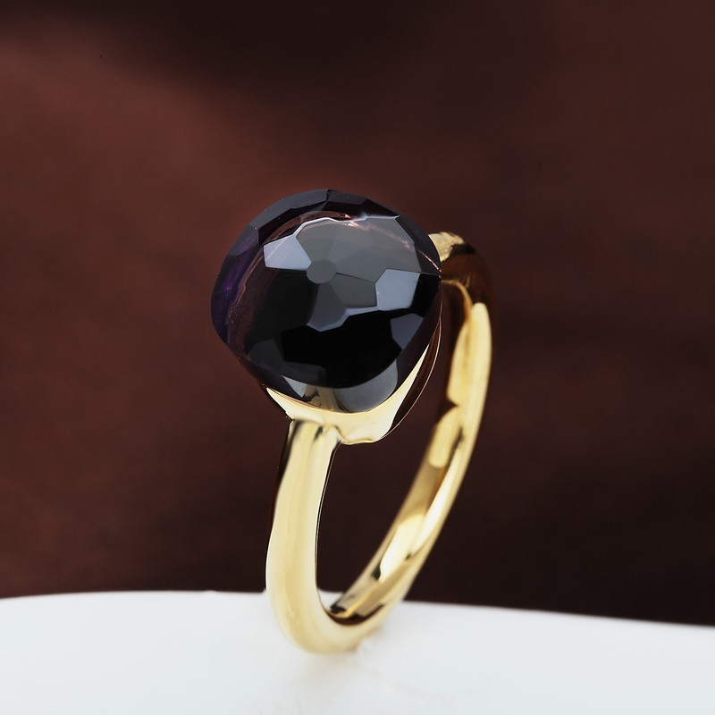 NUDO RING IN 18K GOLD WITH AMETHYST