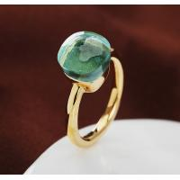 Ring IN 18K GOLD WITH BLUE TOPAZ