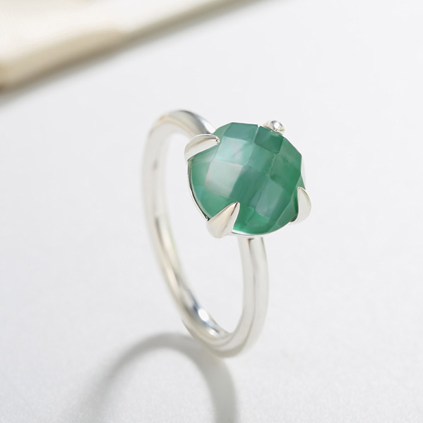 Inspired Ring in 925 Sterling silver With Amazonite